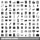 100 office icons set, simple style Royalty Free Stock Images