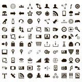 100 office icons set, simple style. 100 office icons set in simple style on a white background vector illustration