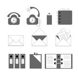 Office icons. Set of icons on a theme documentation and communication Royalty Free Stock Photo