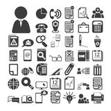 Office icons set Stock Images