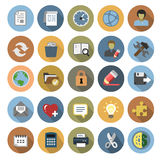 Office icons set Stock Photos