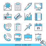 Office icons set vector illustration Royalty Free Stock Photography