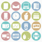 Office icons set Royalty Free Stock Photos