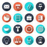 Office Icons with Shadow Royalty Free Stock Photos