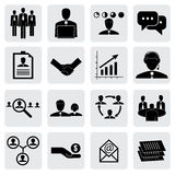 Office icons(signs) of people & concepts for business graphic Royalty Free Stock Images