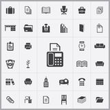 Office icons universal set. For web and mobile Stock Photography