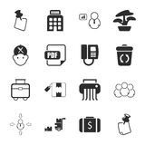 Office 16 icons universal set for web and mobile. Flat Royalty Free Stock Image