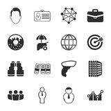 Office 16 icons universal set for web and mobile. Flat Royalty Free Stock Photos
