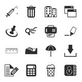 Office 16 icons universal set for web and mobile. Flat Stock Illustration