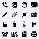 Office Icons. For web. Vector Royalty Free Stock Image