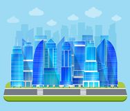 Office industrial cityscape Royalty Free Stock Image