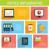 Office infographics flat business template Stock Photo