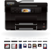 Office InkJet Printer/Photocopier Royalty Free Stock Images