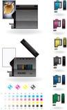 Office InkJet Printer/Photocopier Royalty Free Stock Photography