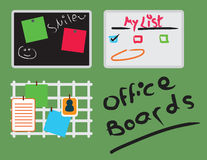 Office inspiration and message boards Royalty Free Stock Photo