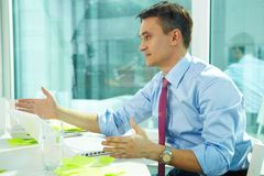 Office interaction Royalty Free Stock Image