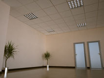 Office interior. Nice 3d office space interior Stock Photo