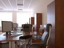 Office interior vector illustration
