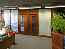 Office Interior. Interior of an office showing glass screen Royalty Free Stock Photography