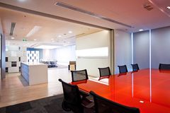 Office interior. The atmosphere in the office of the new meeting rooms Stock Photos