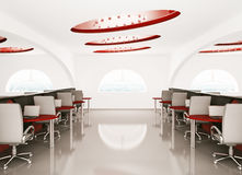 Office interior 3d Stock Images
