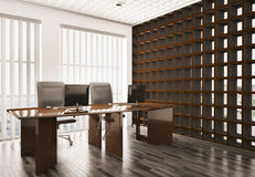 Office interior 3d Royalty Free Stock Photography