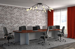 Free Office Interior. 3D Illustration Royalty Free Stock Photo - 72820005