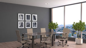 Free Office Interior. 3D Illustration Stock Image - 78560301