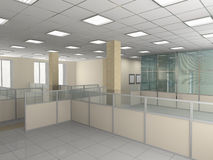 Office interior. Interior of office premise without furniture Stock Photography
