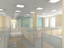 Office interior. Interior of office premise without furniture Stock Photos