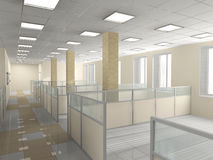 Office interior. Interior of office premise without furniture Royalty Free Stock Photo