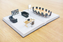 Office interior on book Royalty Free Stock Photo