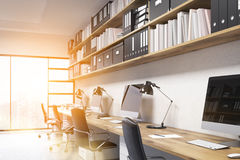 Office interior with bright sun Stock Images