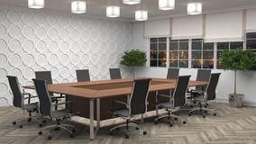 Office interior. 3D illustration Royalty Free Stock Photography