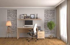 Office interior. 3D illustration Stock Photography