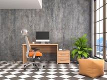 Office interior. 3D illustration Royalty Free Stock Photos