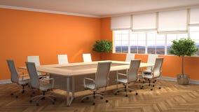 Office interior. 3D illustration Royalty Free Stock Photo