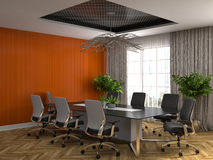 Office interior. 3D illustration Royalty Free Stock Photos