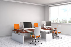 Office interior. 3D illustration Royalty Free Stock Images