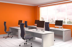 Office interior. 3D illustration Stock Image