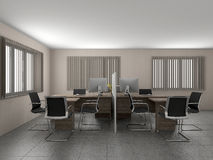 Office interior 3D rendering Stock Photo