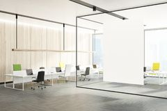Office Interior, Green And Yellow Chairs, Wall Royalty Free Stock Photography