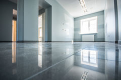 Office interior, modern constructions. Office interior, floor with reflections Stock Image
