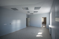 Office interior, modern constructions. Office interior, floor with reflections Royalty Free Stock Images