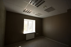 Office interior, modern constructions. Office interior, floor with reflections Royalty Free Stock Image