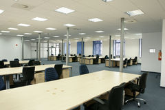 Office interior - modern empty open space office Stock Photography