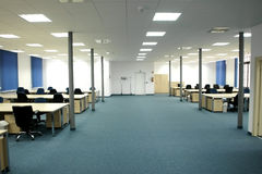 Office interior - modern empty open space office Royalty Free Stock Images