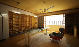 Office interior. Modern oriental style. Stock Photos