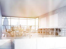 Office interior with NYC view Royalty Free Stock Images