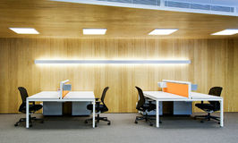 Office interior and office chairs and tables Royalty Free Stock Photo
